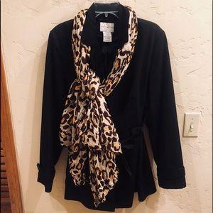 Beautiful Black Rain Coat Size XL